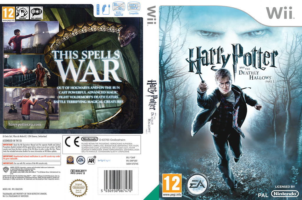 Harry Potter and the Deathly Hallows - Part 1 Wii coverfullHQ (SHHP69)