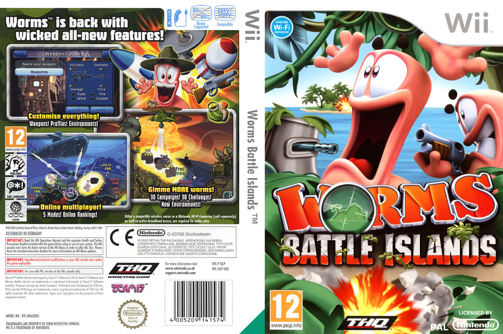 Worms Battle Islands Wii coverfullHQ (SILP78)