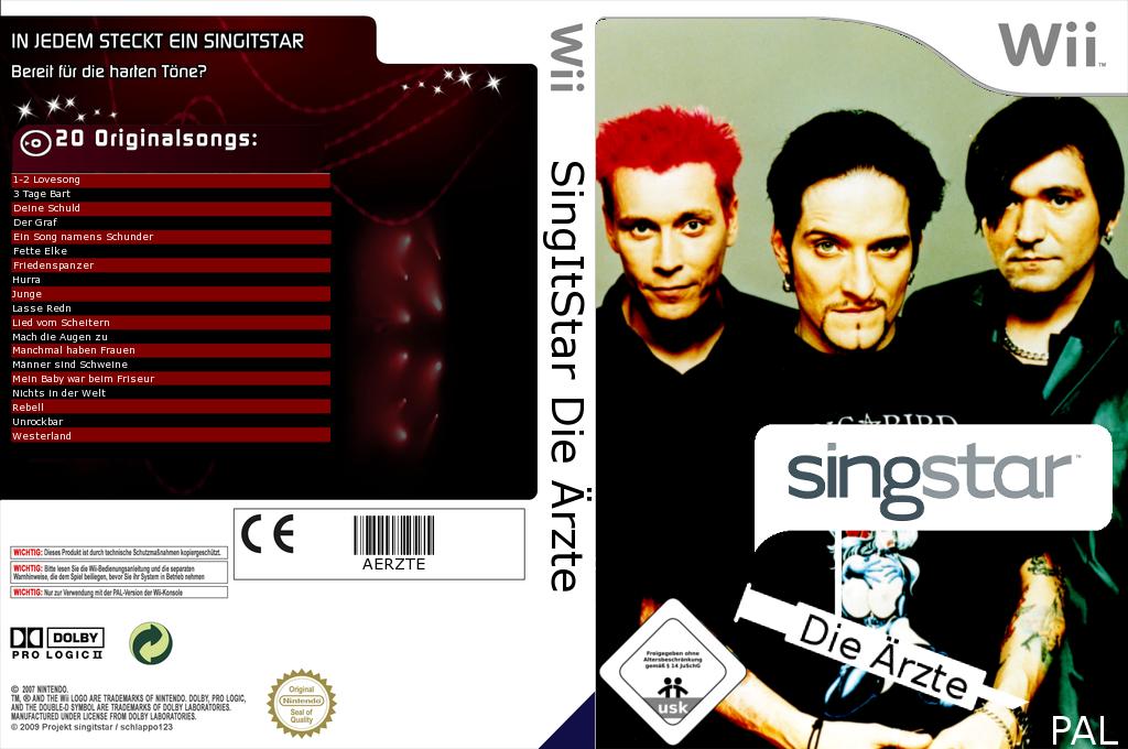SingItStar Die Ärzte Wii coverfullHQ (SISDAE)