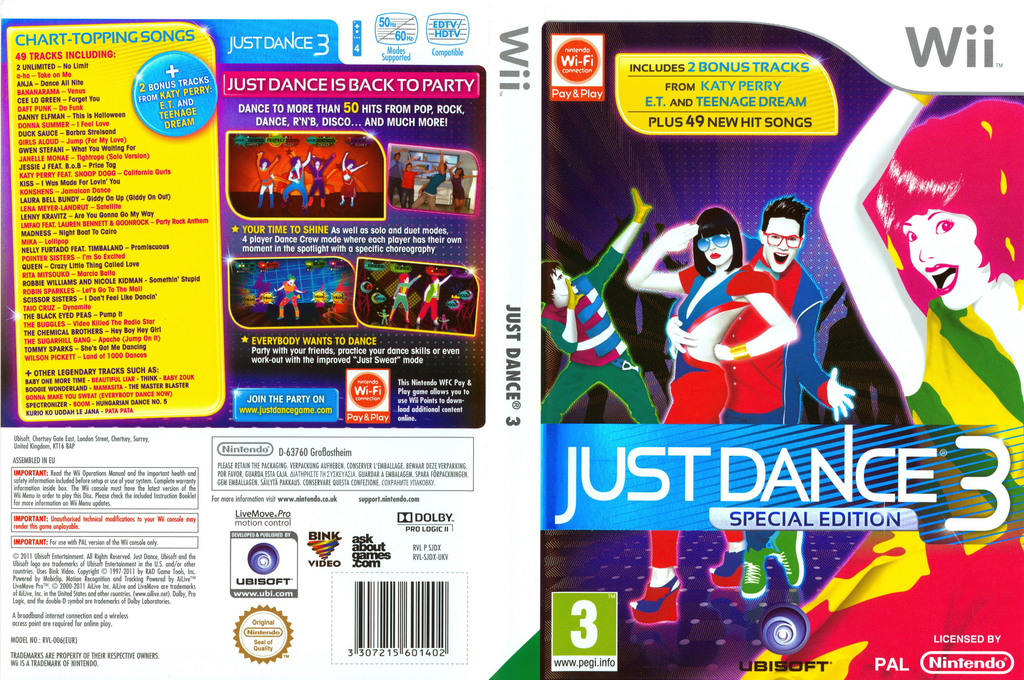 Just Dance 3 Special Edition Wii coverfullHQ (SJDX41)