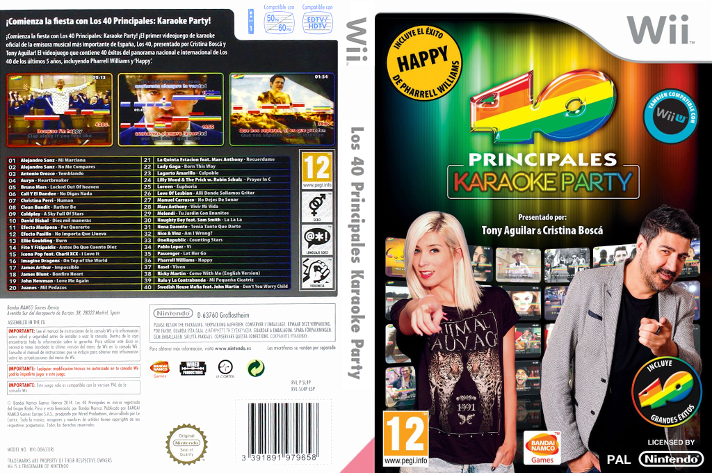 Los 40 Principales Karaoke Party Array coverfullHQ (SL4PAF)