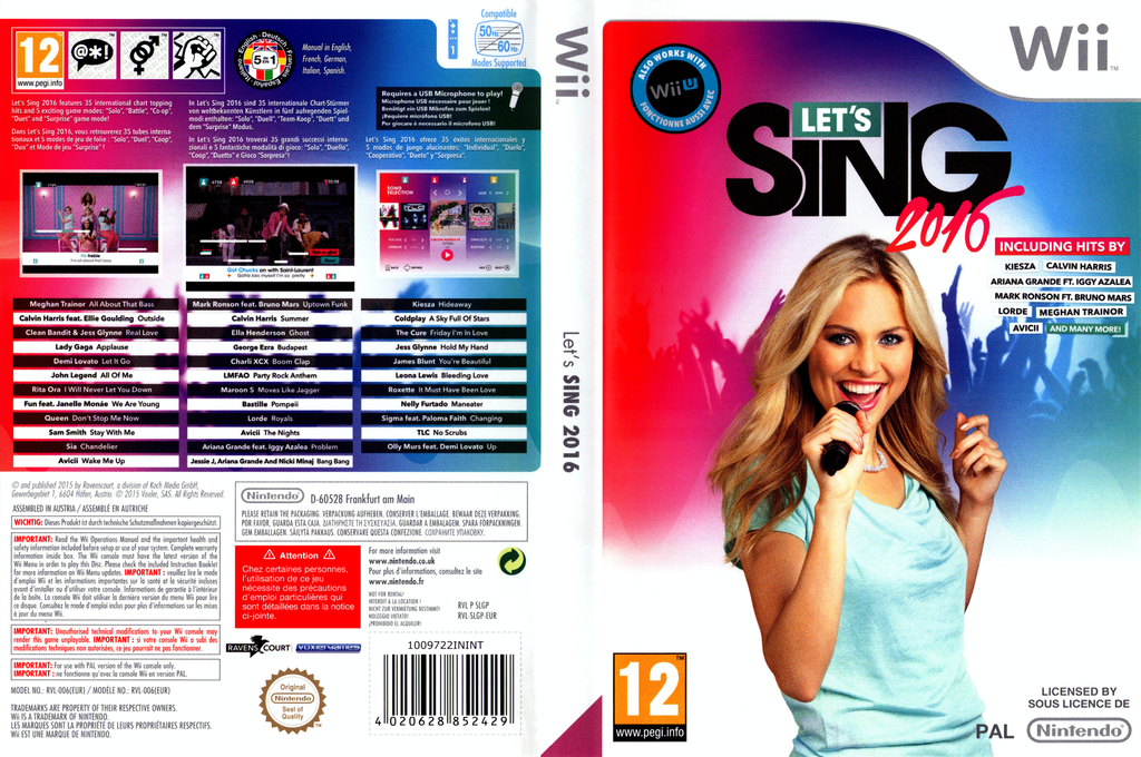 Let's Sing 2016 Wii coverfullHQ (SLGPKM)