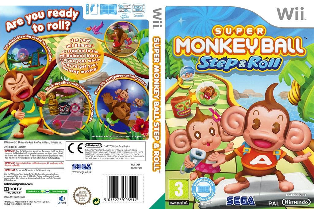 Super Monkey Ball: Step & Roll Wii coverfullHQ (SMBP8P)