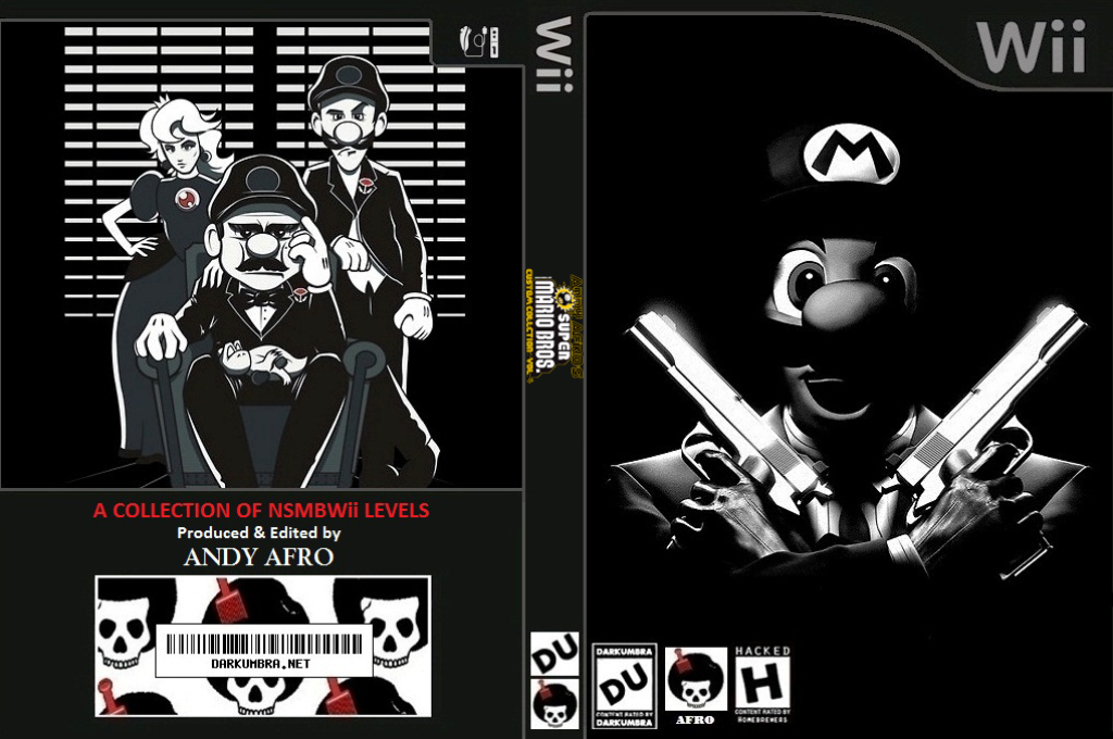 New Super Mario Bros. Wii ANDY AFRO'S Custom Collection Volume 4. Wii coverfullHQ (SMMP01)