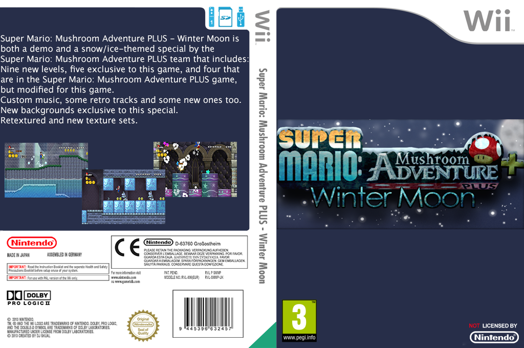 Super Mario: Mushroom Adventure PLUS: Winter Moon Wii coverfullHQ (SMMP02)