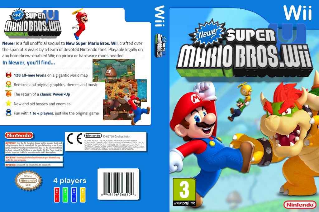 Newer Super Mario Bros. Wii U Wii coverfullHQ (SMNP40)