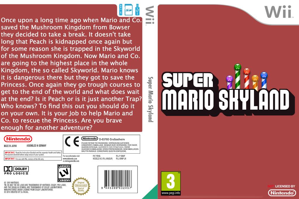 Super Mario Skyland Wii coverfullHQ (SMNPZY)