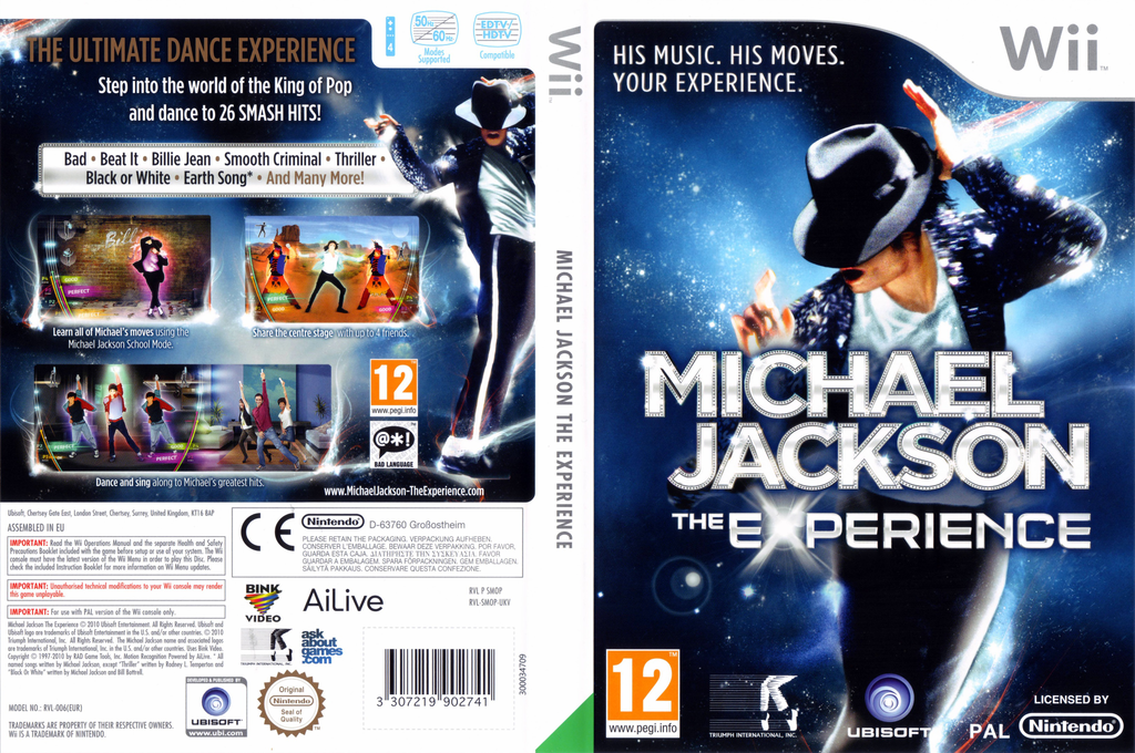 Michael Jackson The Experience Wii coverfullHQ (SMOP41)