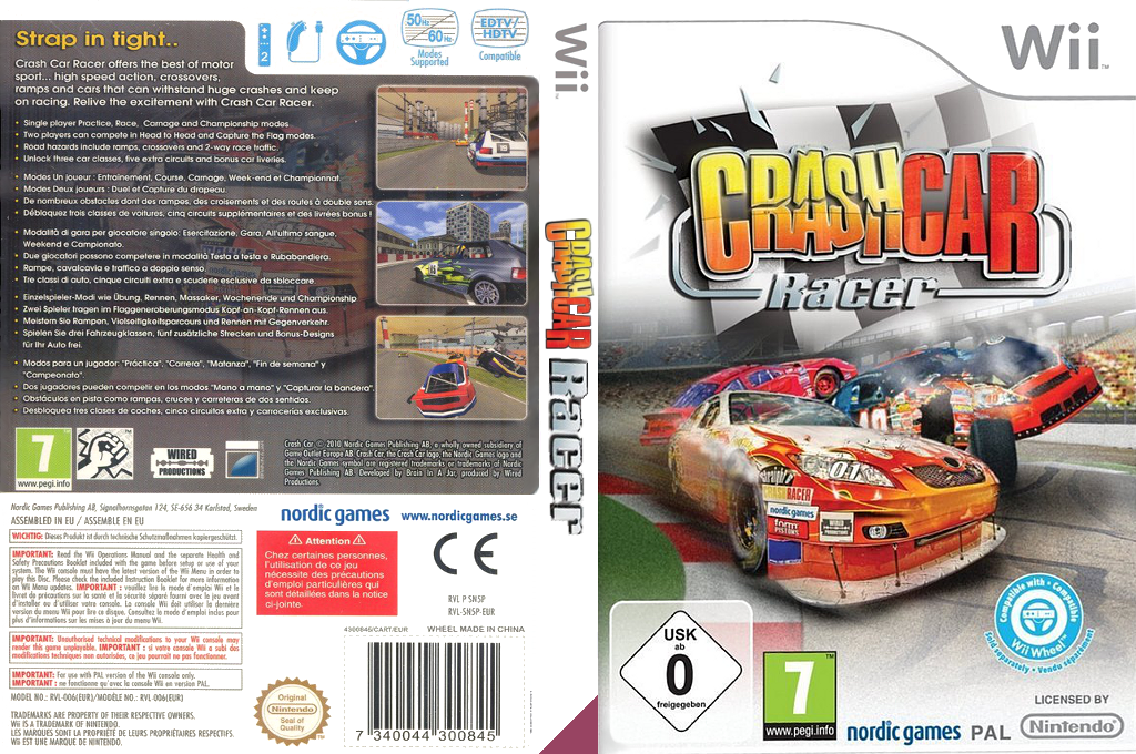 Crash Car Racer Wii coverfullHQ (SN5PNG)