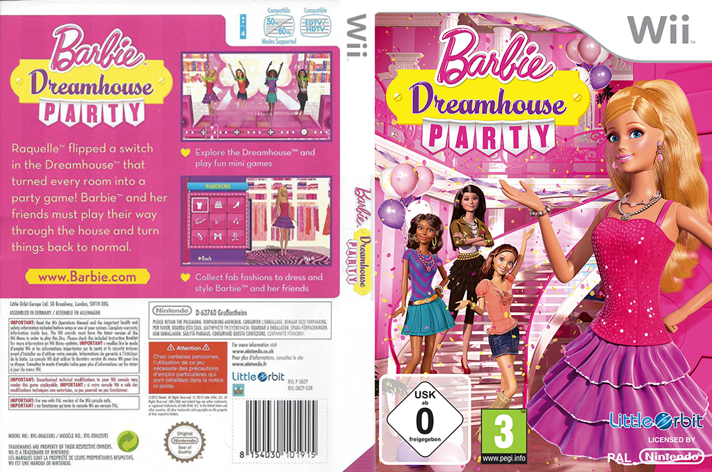 Barbie: Dreamhouse Party Wii coverfullHQ (SNZPVZ)
