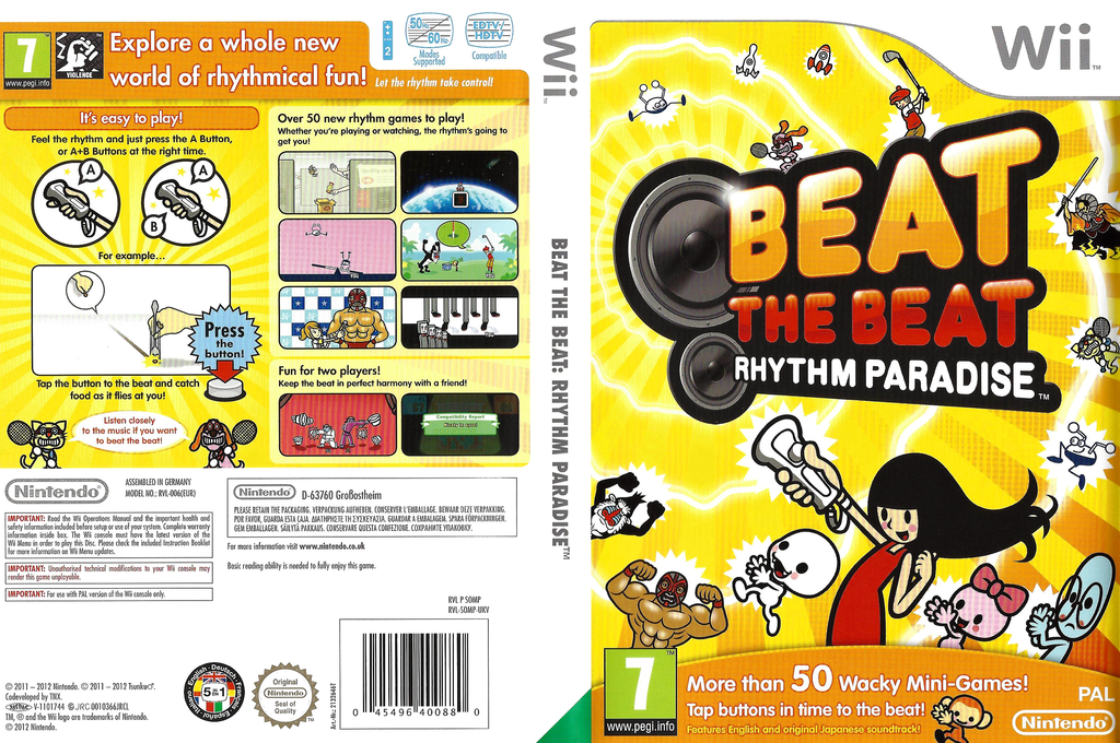 Beat the Beat: Rhythm Paradise Wii coverfullHQ (SOMP01)