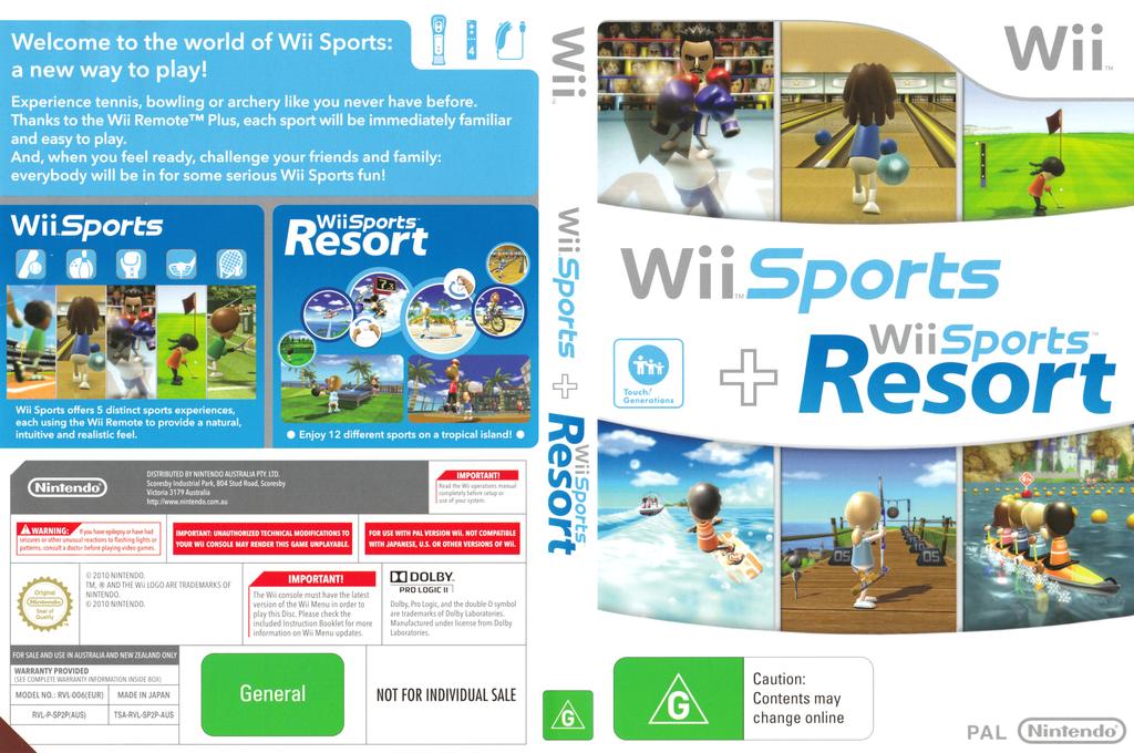 Wii Sports + Wii Sports Resort Wii coverfullHQ (SP2P01)