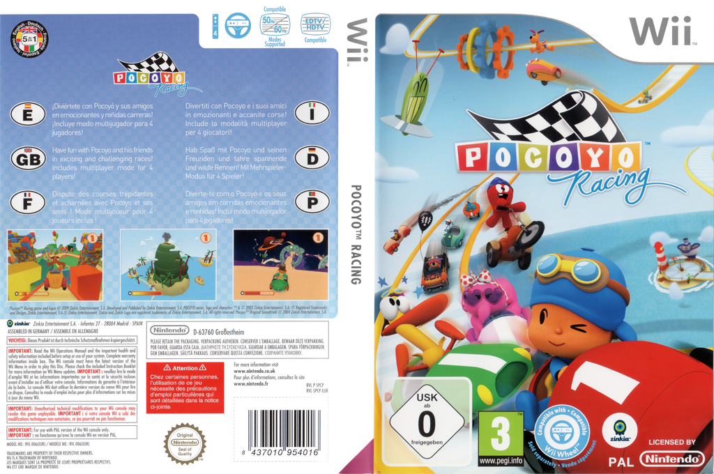 Pocoyo Racing Wii coverfullHQ (SPCPZS)