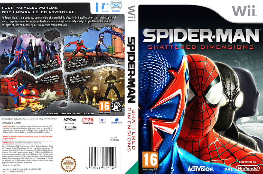 Spider-Man: Shattered Dimensions Wii coverfullHQ (SPDP52)