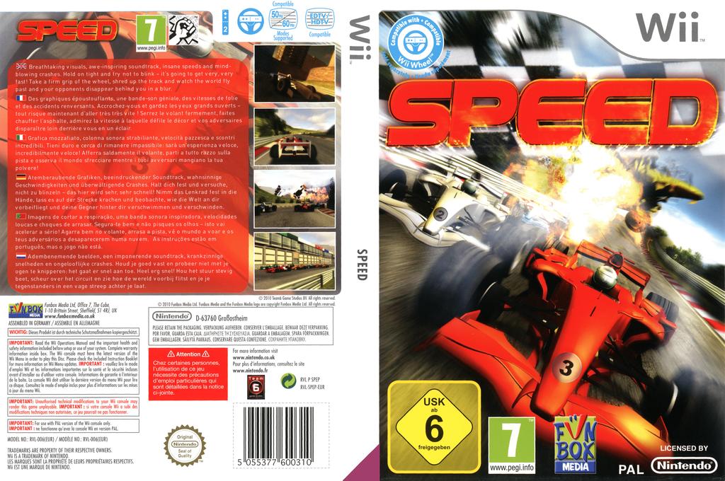 Speed Wii coverfullHQ (SPEPXT)