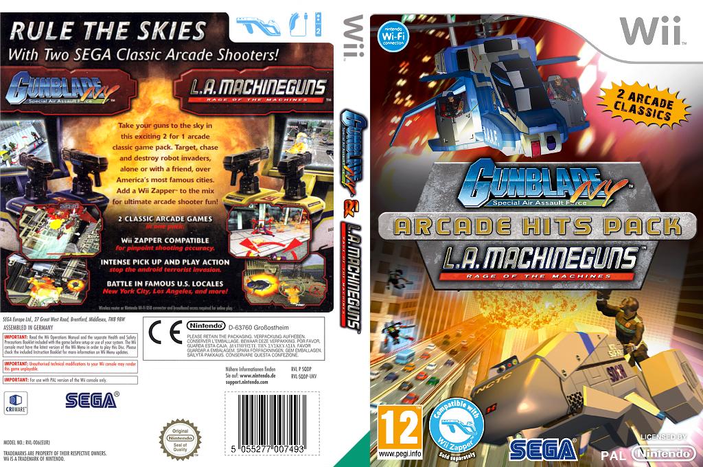Gunblade NY & LA Machineguns: Arcade Hits Pack Wii coverfullHQ (SQDP8P)