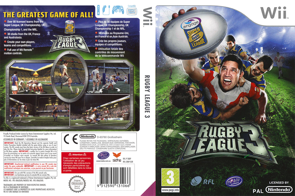 Rugby League 3 Wii coverfullHQ (SRBPHS)