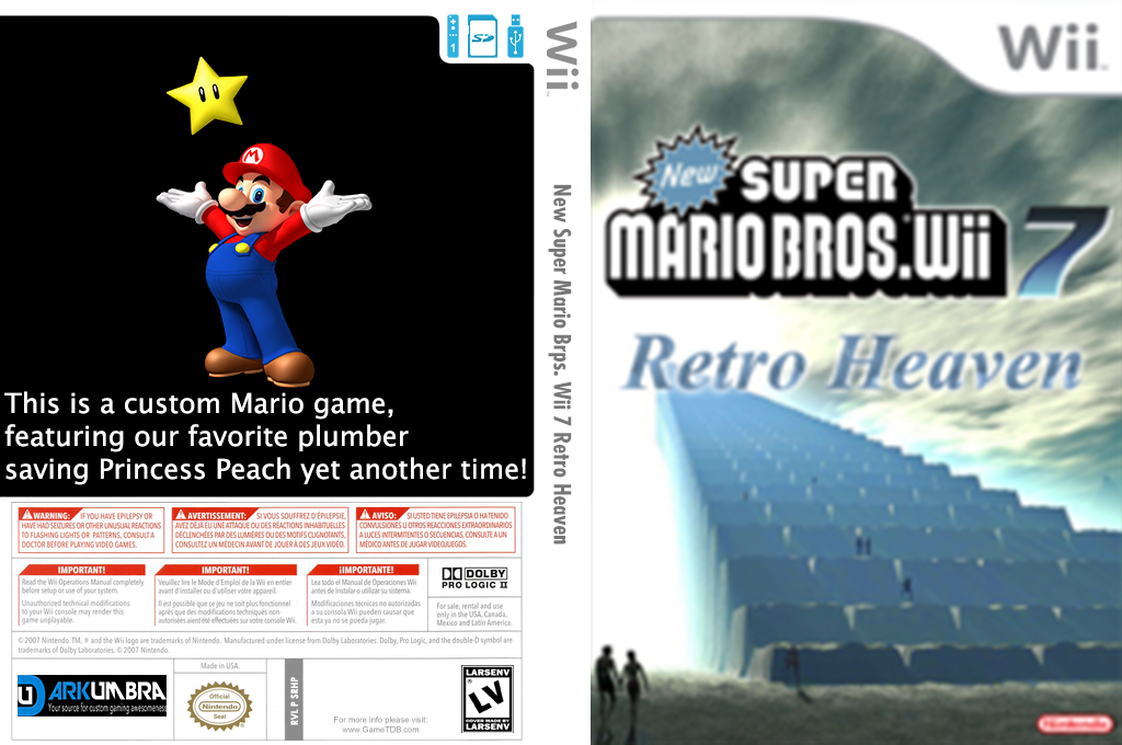 New Super Mario Bros. Wii 7 Retro Heaven Wii coverfullHQ (SRHP01)