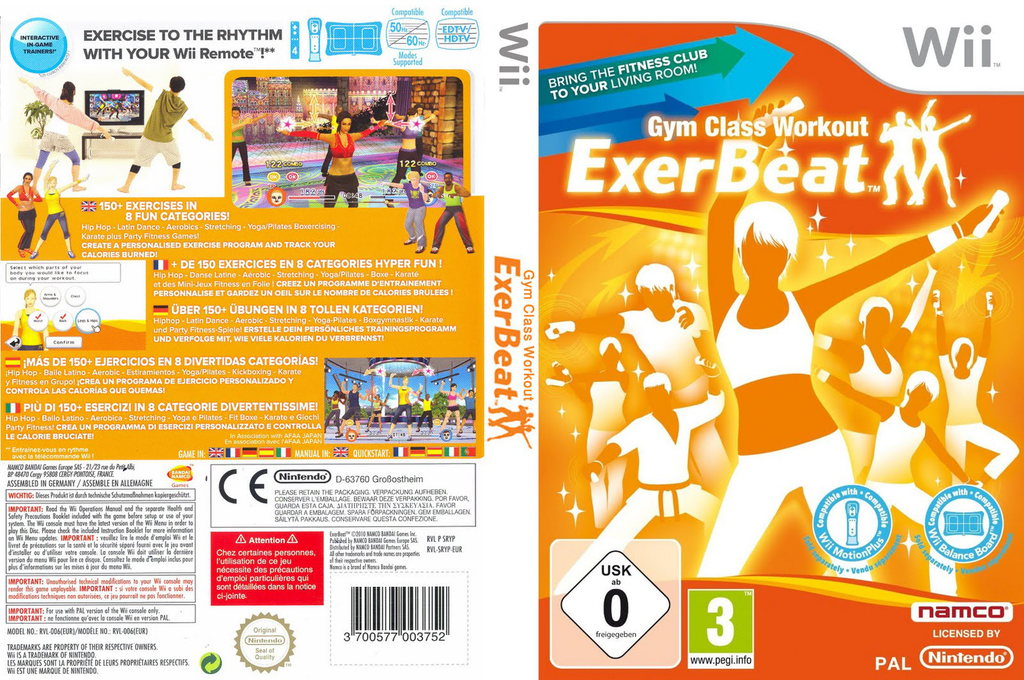 ExerBeat: Gym Class Workout Wii coverfullHQ (SRYPAF)