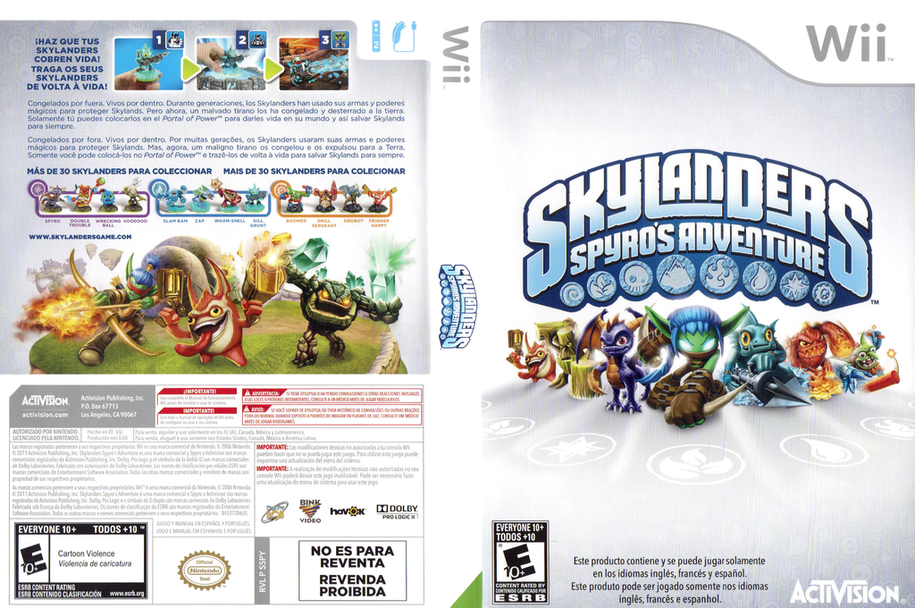 Skylanders: Spyro's Adventure Wii coverfullHQ (SSPY52)