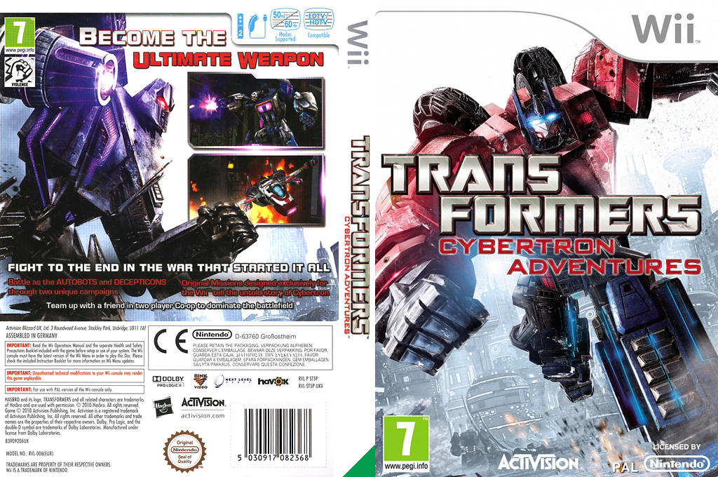 Transformers: Cybertron Adventures Wii coverfullHQ (ST5P52)