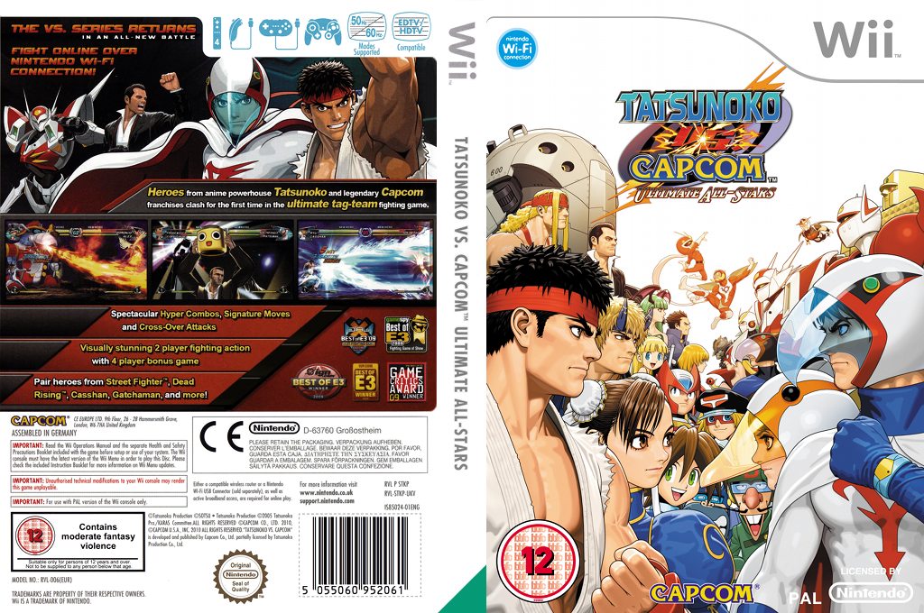 Tatsunoko vs. Capcom: Ultimate All-Stars Wii coverfullHQ (STKP08)