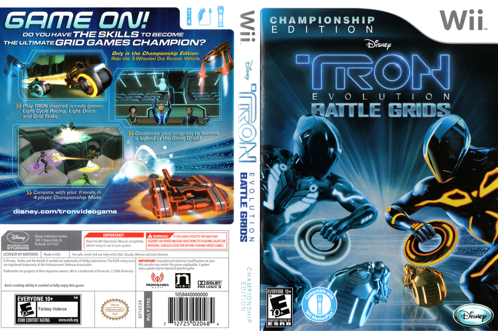 Tron: Evolution - Battle Grids Championship Edition Wii coverfullHQ (STRX4Q)