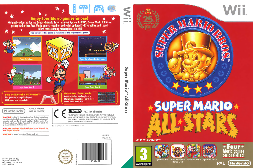 Super Mario All-Stars: 25th Anniversary Edition Wii coverfullHQ (SVMP01)