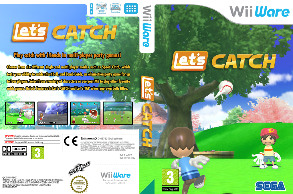 Let's Catch Wii coverfullHQ (W2KP)