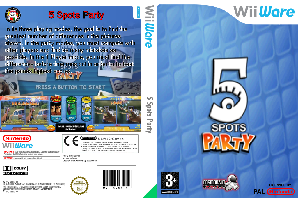 5 Spots Party Wii coverfullHQ (W54P)