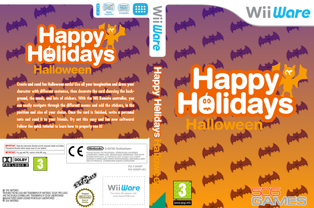Happy Holidays: Halloween Wii coverfullHQ (W8WP)