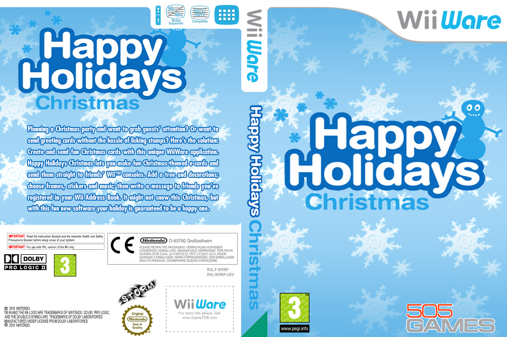 Happy Holidays: Christmas Wii coverfullHQ (W9RP)