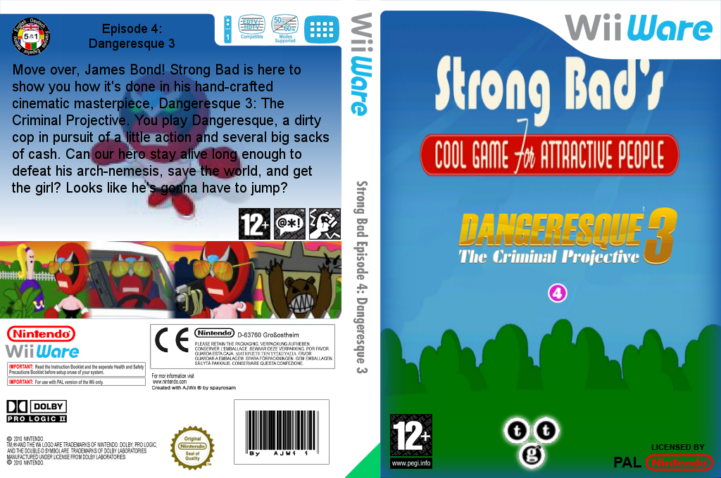 Strong Bad Episode 4: Dangeresque 3 Wii coverfullHQ (WB2P)