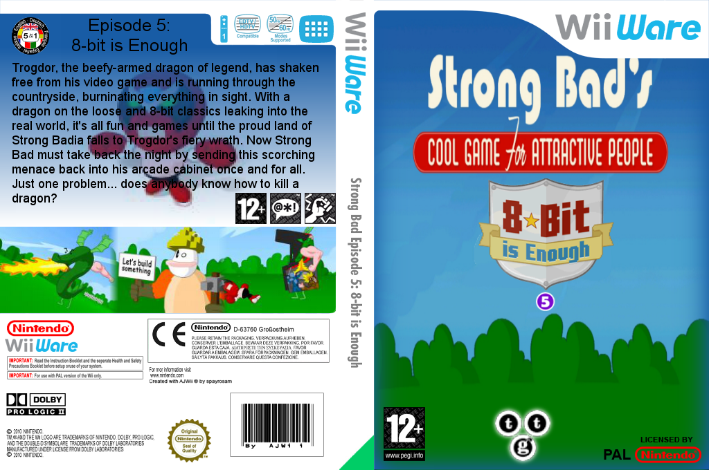 Strong Bad Episode 5: 8-bit is Enough Wii coverfullHQ (WB3P)