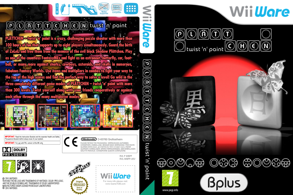 PLÄTTCHEN - twist 'n' paint Wii coverfullHQ (WBPP)