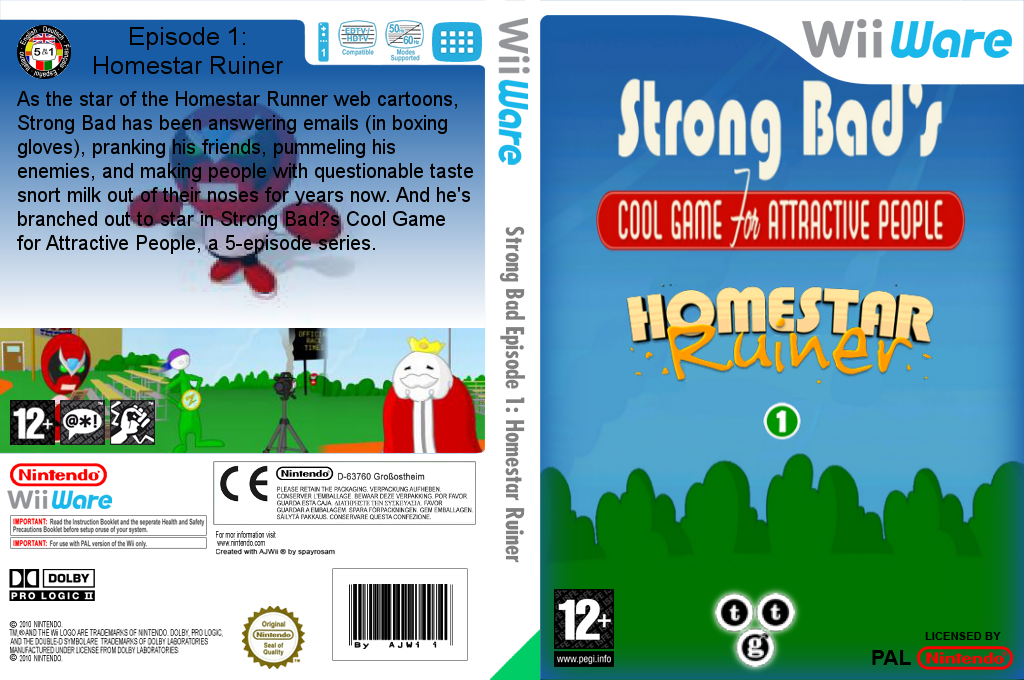 Strong Bad Episode 1: Homestar Ruiner Wii coverfullHQ (WBXP)