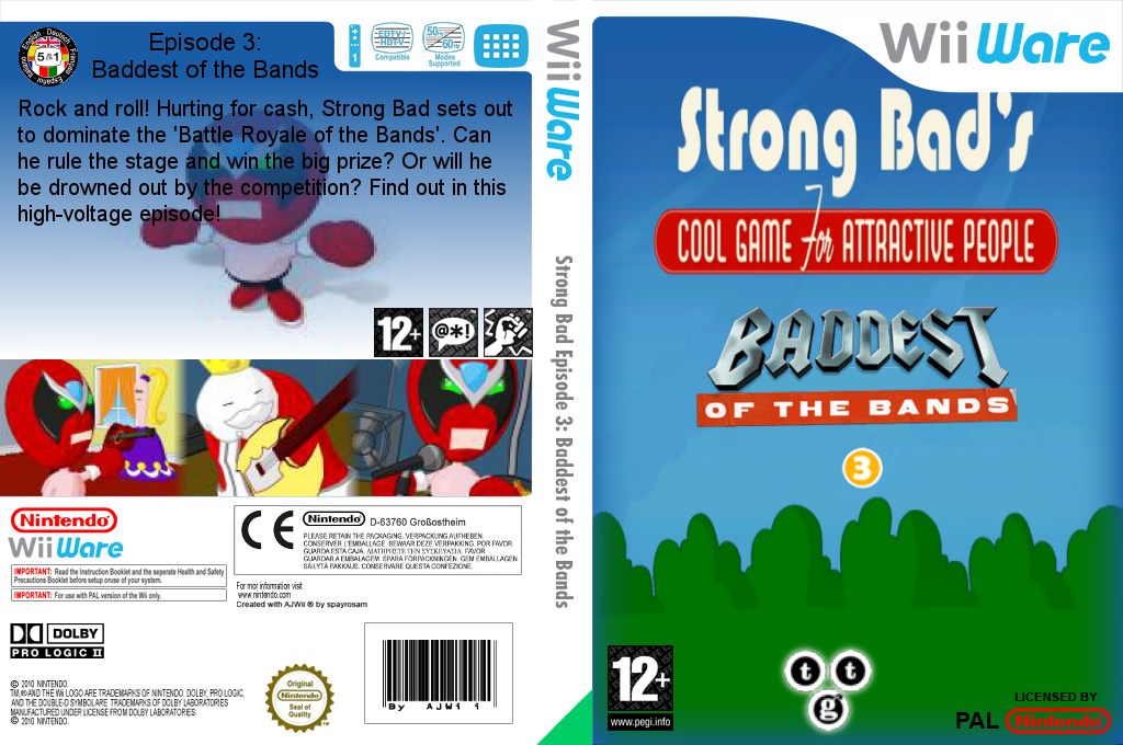 Strong Bad Episode 3: Baddest of the Bands Wii coverfullHQ (WBZP)