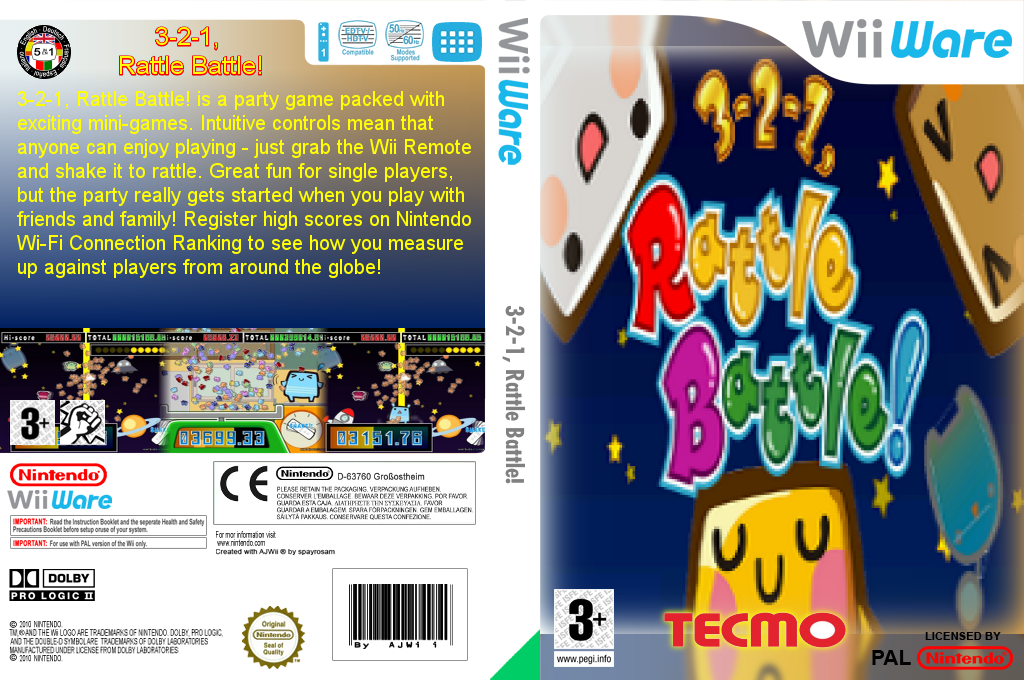 3-2-1, Rattle Battle! Wii coverfullHQ (WCUP)