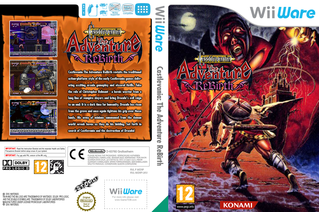Castlevania: The Adventure ReBirth Wii coverfullHQ (WD9P)