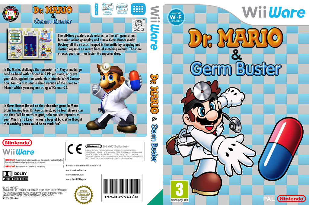 Dr. Mario & Germ Buster Wii coverfullHQ (WDMP)