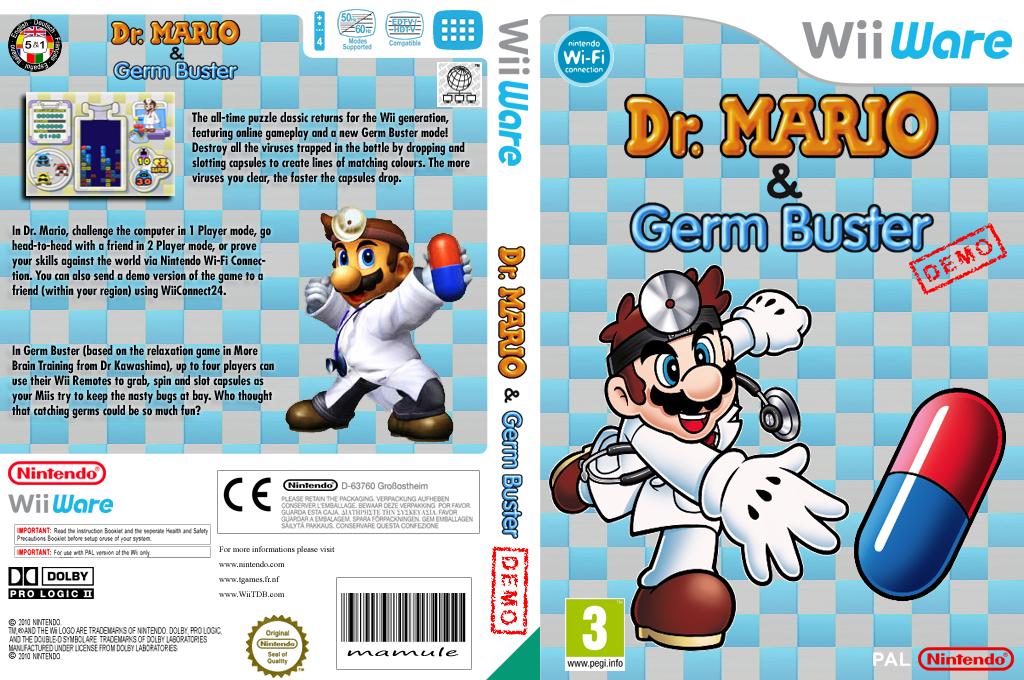 Dr. Mario & Germ Buster (Friend Battle Demo) Wii coverfullHQ (WDPP)