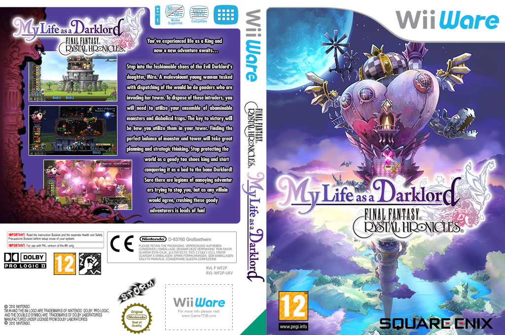 Final Fantasy Crystal Chronicles: My Life as a Darklord Wii coverfullHQ (WF2P)