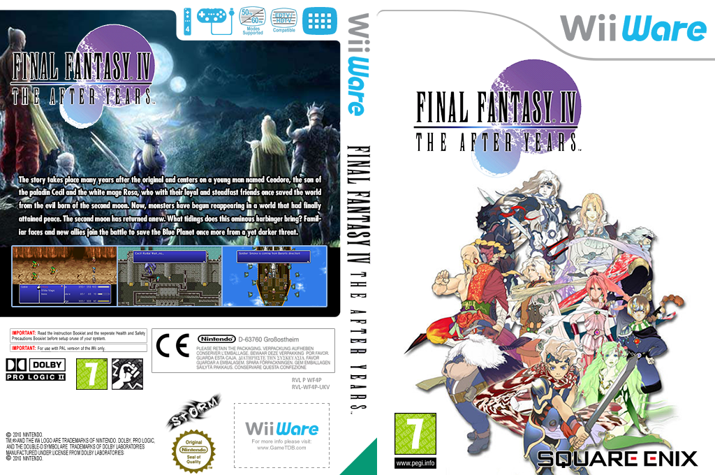 Final Fantasy IV: The After Years Wii coverfullHQ (WF4P)