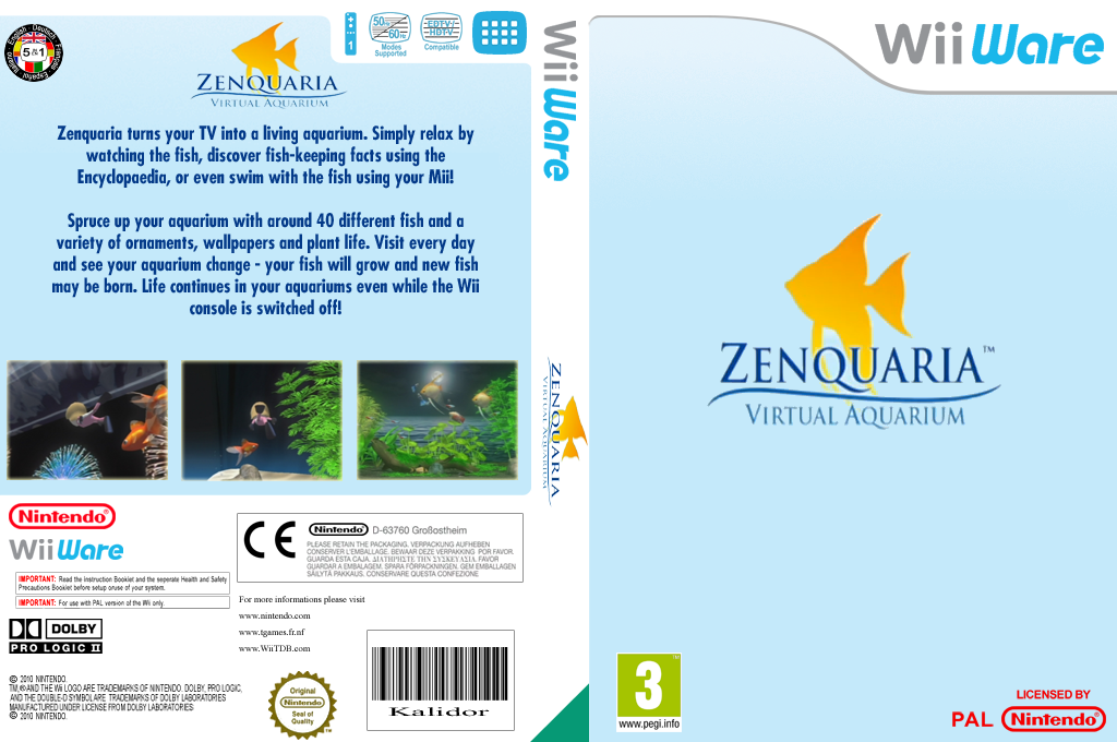 Zenquaria: Virtual Aquarium Wii coverfullHQ (WGPP)