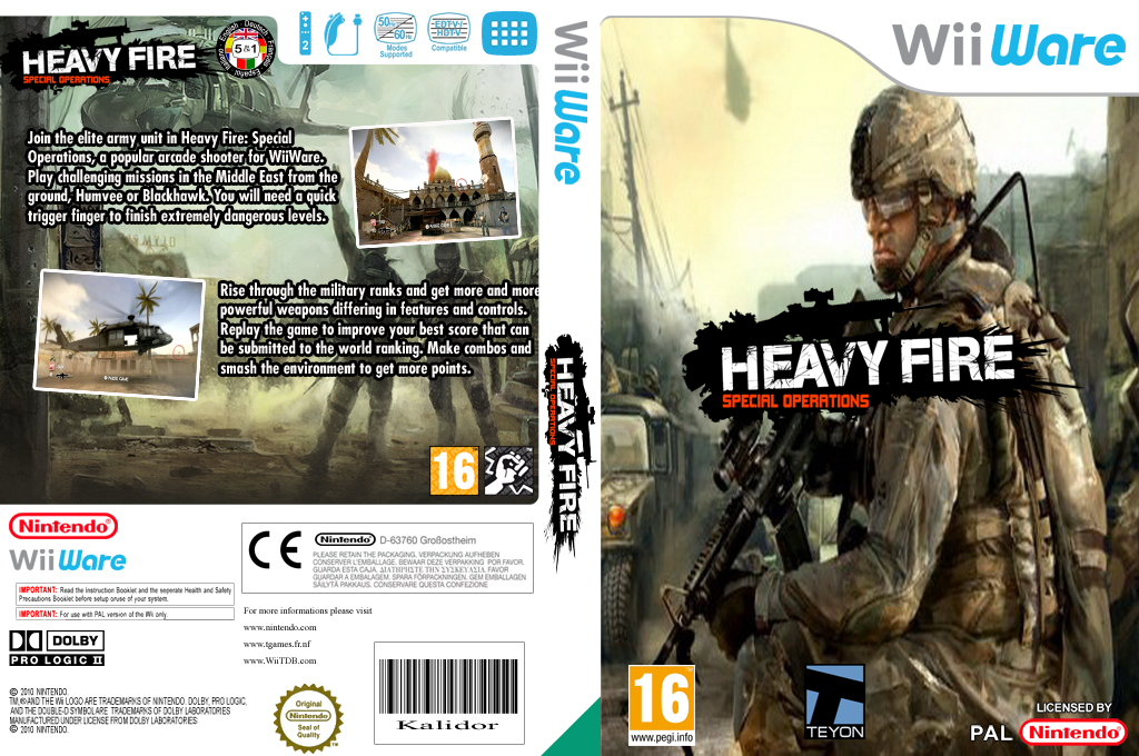 Heavy Fire: Special Operations Wii coverfullHQ (WHFP)