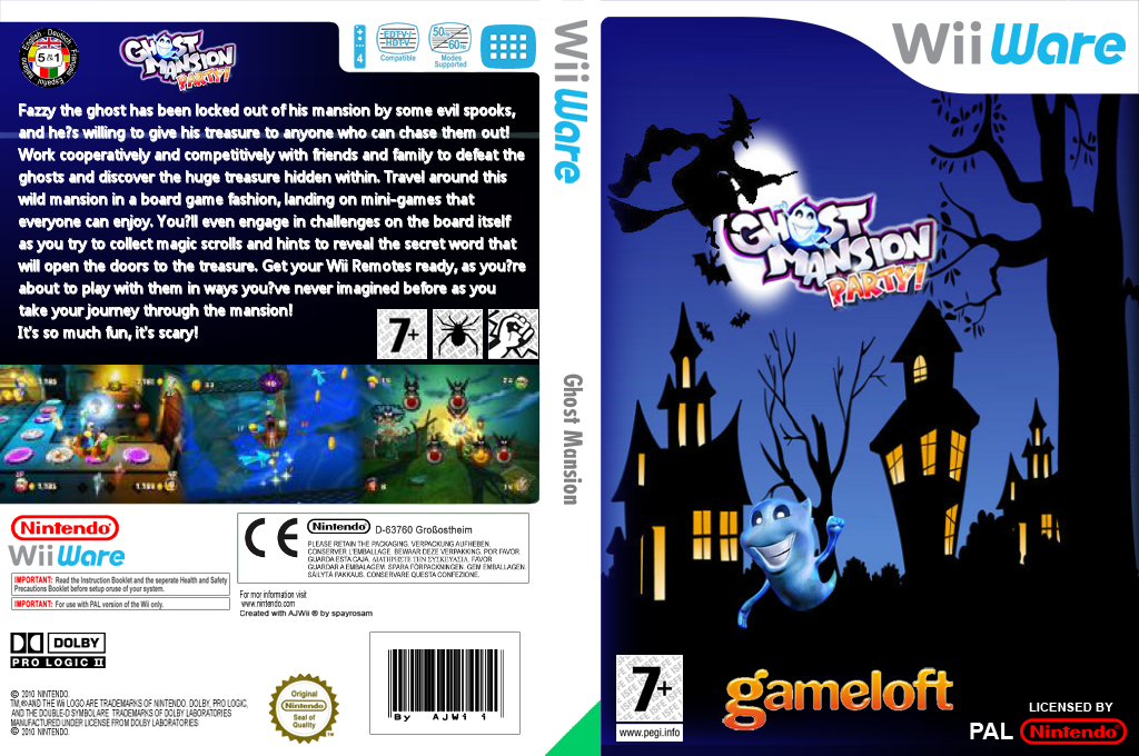 Ghost Mansion Party Wii coverfullHQ (WHUP)