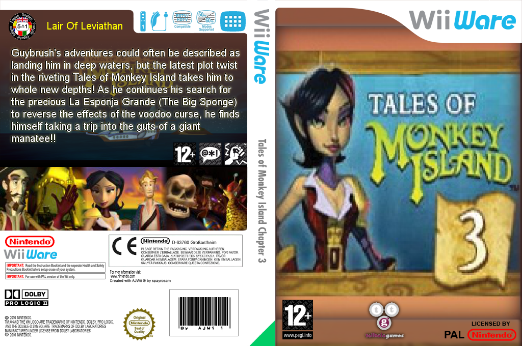 Tales of Monkey Island Chapter 3: Lair of the Leviathan Wii coverfullHQ (WIEP)