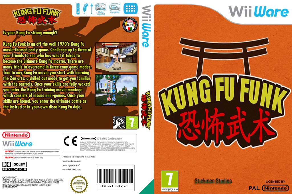 Kung Fu Funk: Everybody Is Kung Fu Fighting Wii coverfullHQ (WKFP)