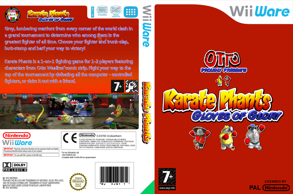 Karate Phants: Gloves of Glory Wii coverfullHQ (WKRP)