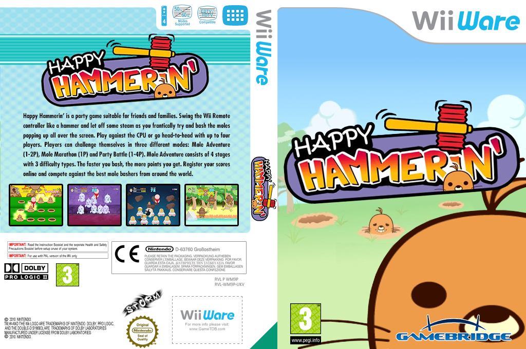 Happy Hammerin' Wii coverfullHQ (WM9P)